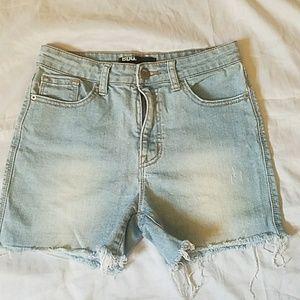 High Rise BDG Distressed Shorts